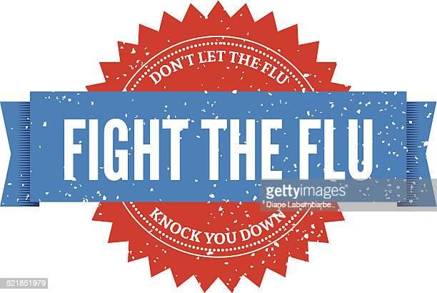 flu shot stamp - cold and flu stock illustrations
