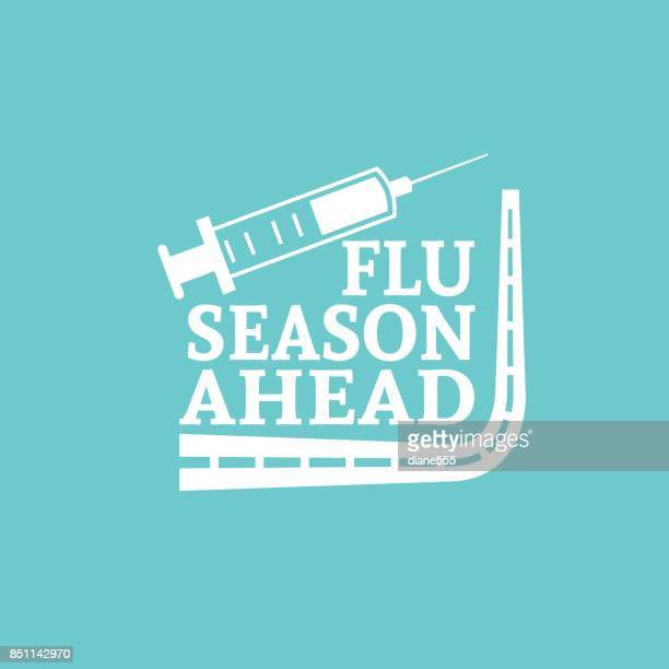 flu shot vaccination badge or icon - injecting stock illustrations, clip art, cartoons, & icons