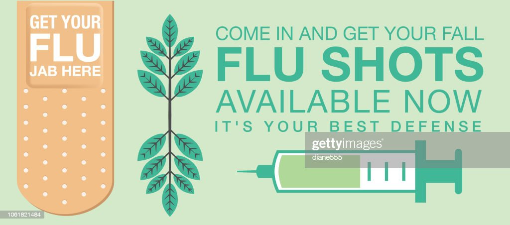 Flu Shot Web Banner High Res Vector Graphic Getty Images