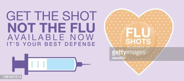 flu shot web banner - injecting stock illustrations