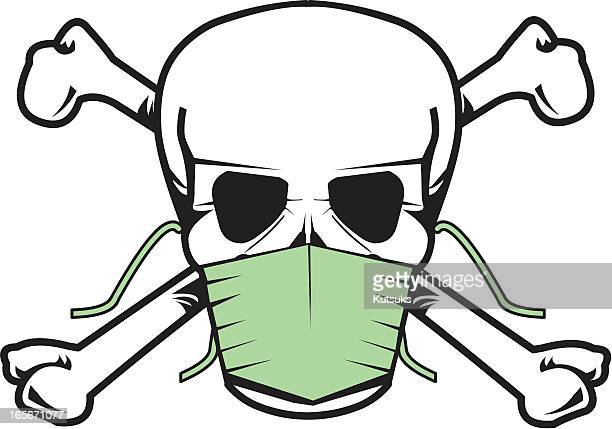 ilustraciones, imágenes clip art, dibujos animados e iconos de stock de la gripe - arma biológica