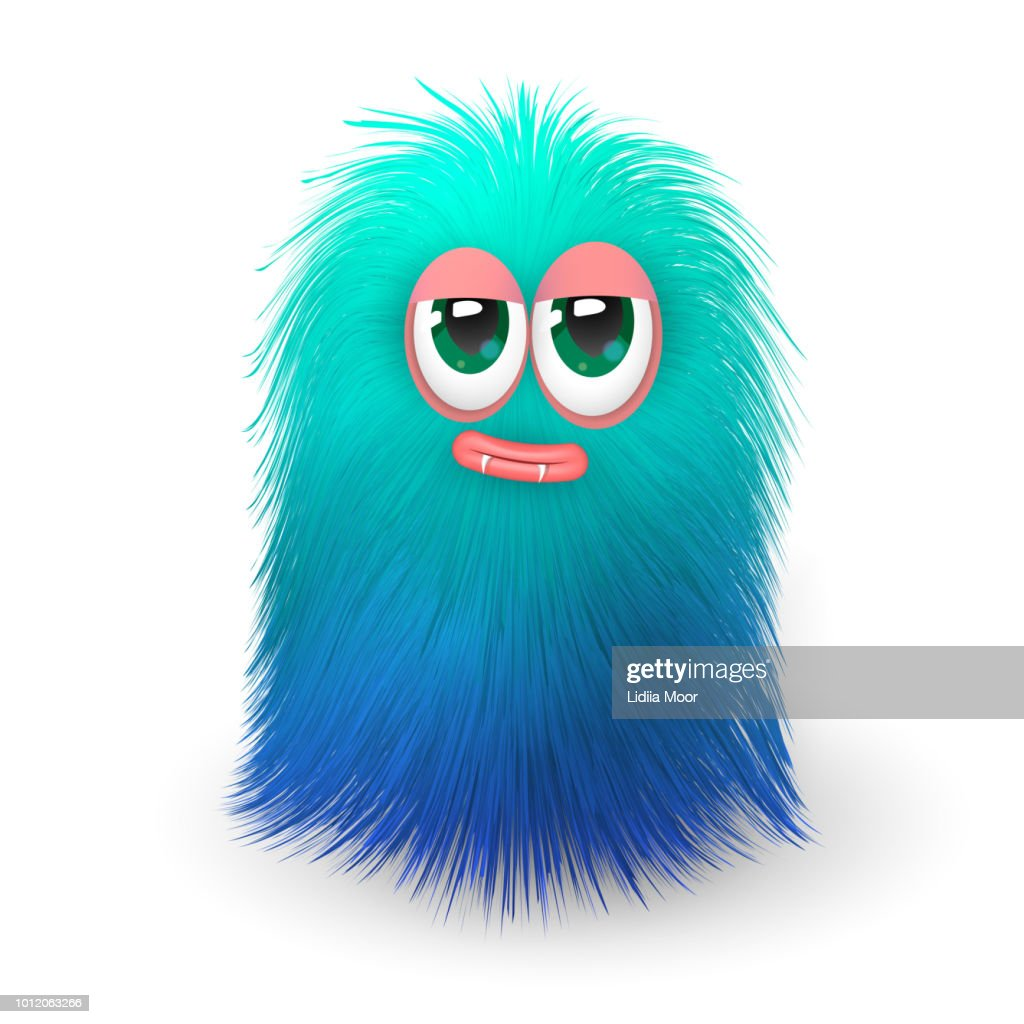 Fluffy blue monster or alien