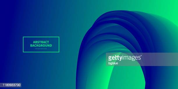 fluid abstract design on green gradient background - panoramic stock illustrations, clip art, cartoons, & icons