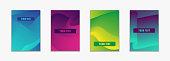 Fluid color simple covers. Colorful gradient geometric shapes composition.