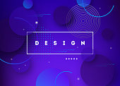 Fluid gradient shapes futuristic poster illustration. Eps10 vector.