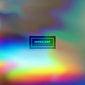 Fluid iridescent multicolored background. Vector illustration