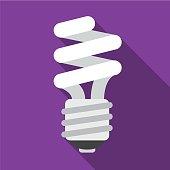 Fluorescent flat icon illustration