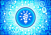 Fluorescent Light Bulb   Icon on Money and Cryptocurrency Background