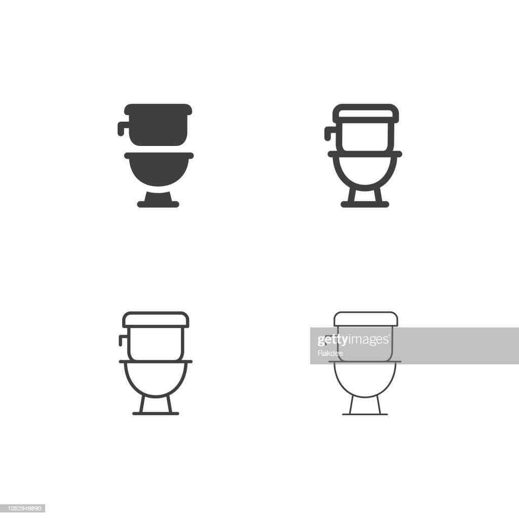 Flush Toilet Icons - Multi Series : stock illustration