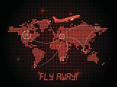 Fly away brochure template - red design