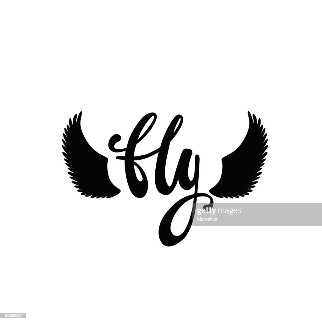 Fly. Inspirational quote about freedom.