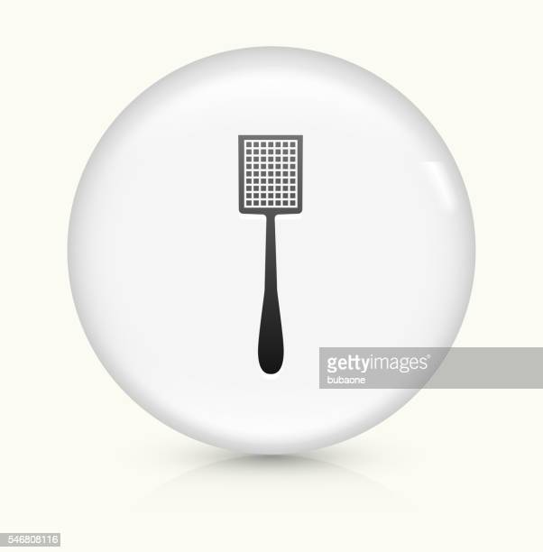 fly swapper icon on white round vector button - slapping stock illustrations, clip art, cartoons, & icons