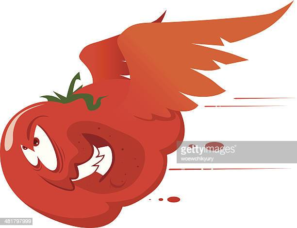 fly tomato - rot stock illustrations
