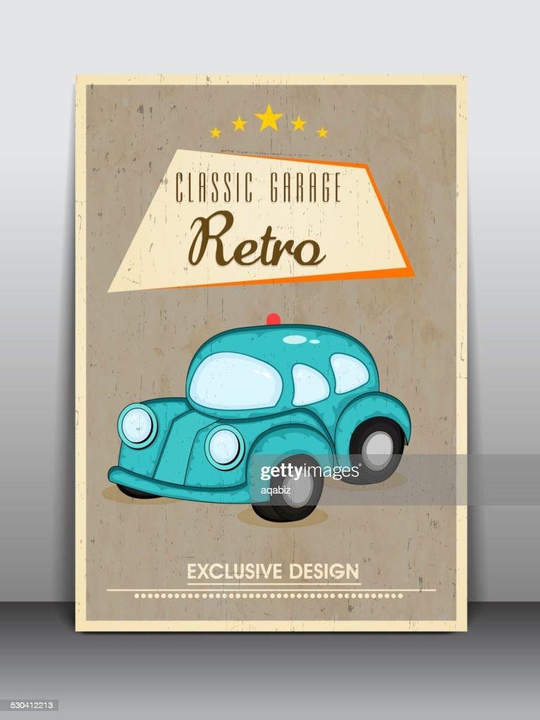 Flyer, banner or poster design for garage.