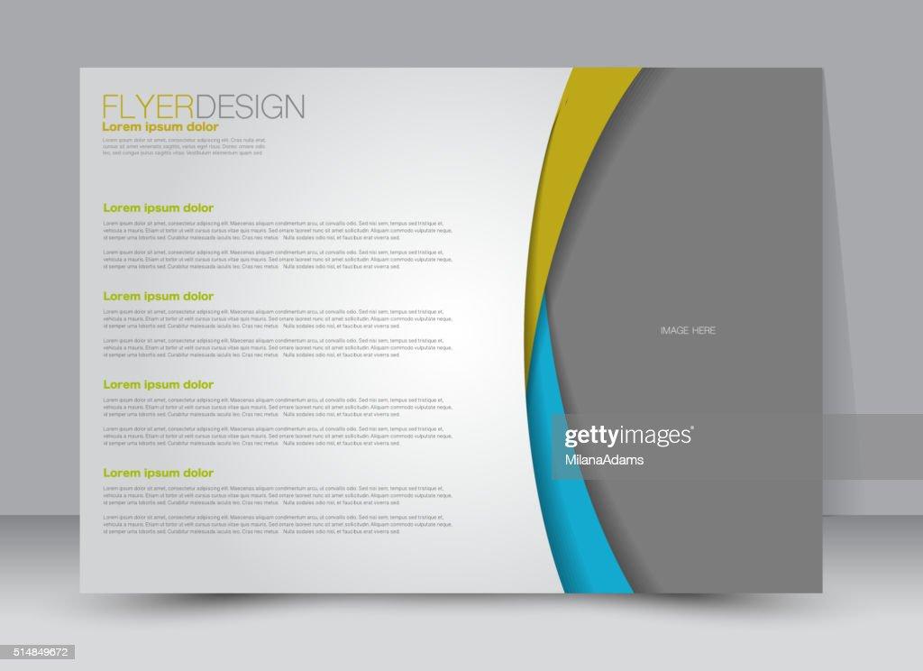 Flyer, brochure, magazine cover template design landscape orientation