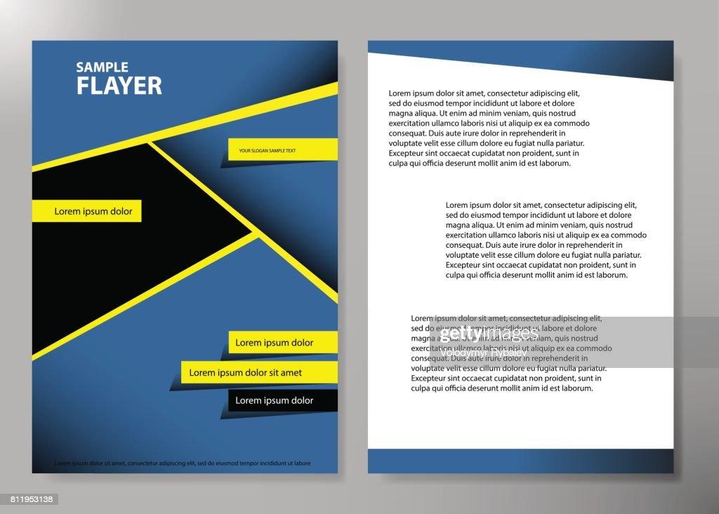 Flyer Abdeckung Business Broschüre Vektordesign Broschüre Werbung ...