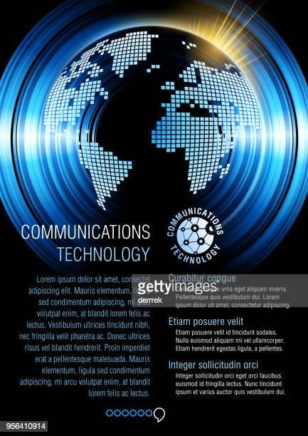 ilustrações, clipart, desenhos animados e ícones de exemplo de projeto de panfleto. comunicação global. - lorem ipsum