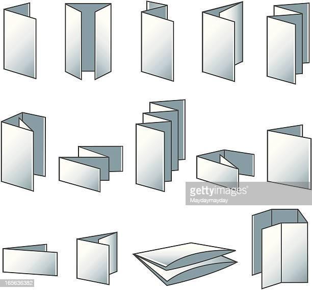 Flyer folding icons