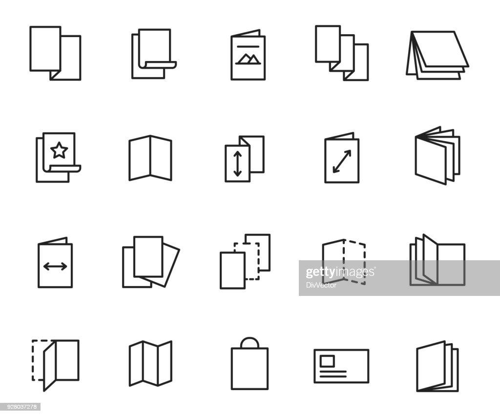 Flyer icon set : stock illustration