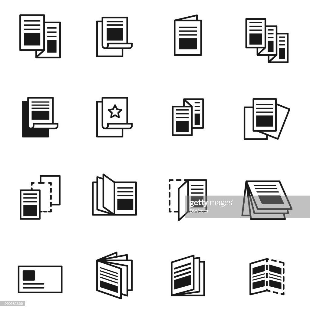 Flyer icon set : stock illustration