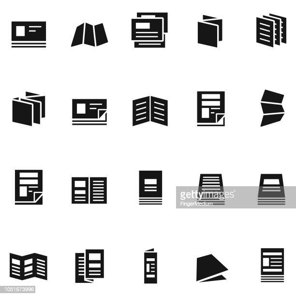 flyer icons - publisher stock illustrations
