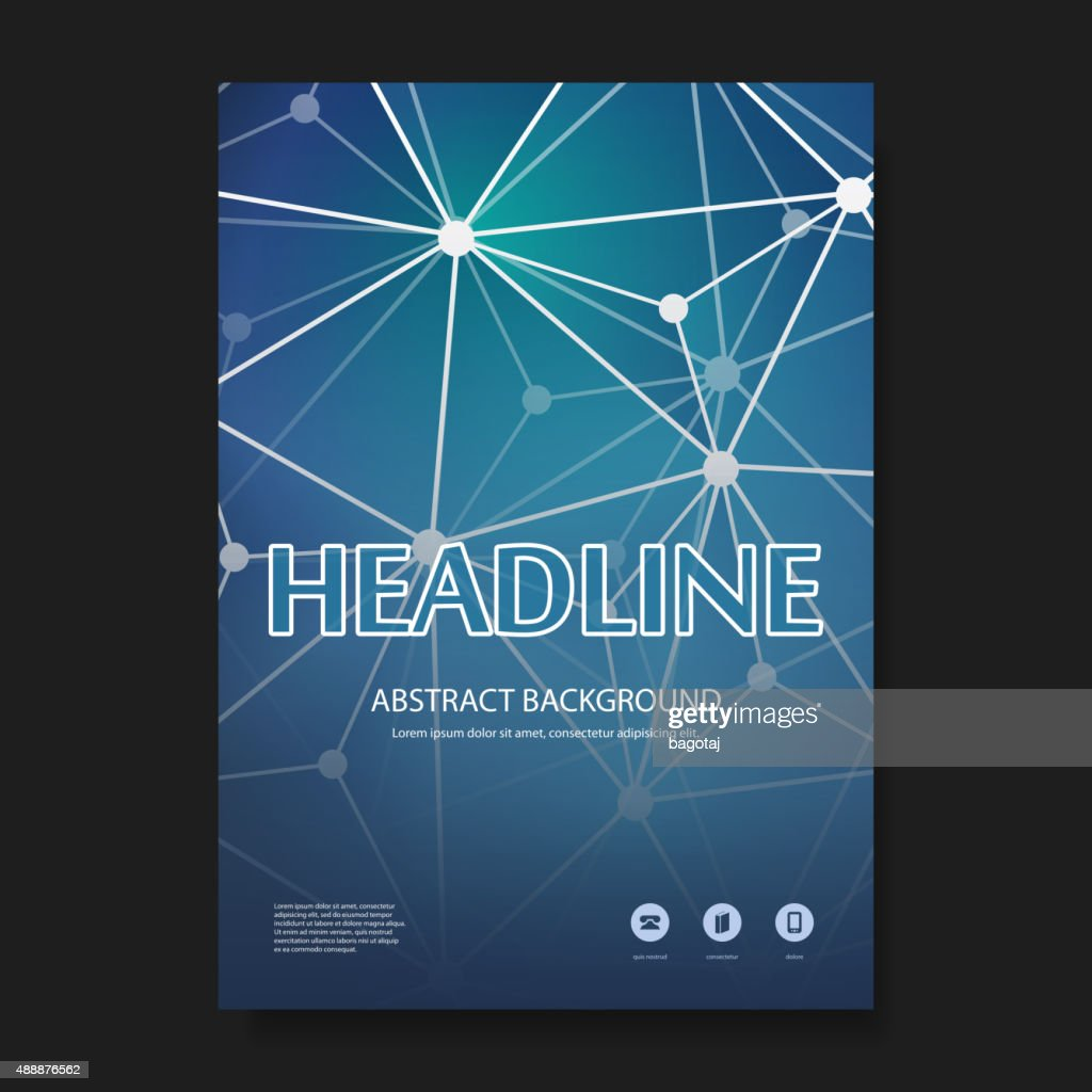 Flyer or Cover Design Template - Business, Networks, Cloud Computing