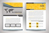 Flyer template. Business brochure. Editable A4 poster for design, education, presentation, website, magazine cover.