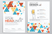 Flyer template Flat Design