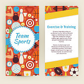 Flyer Template of Exercise and Training Sport Objects Elements