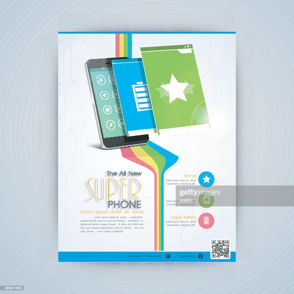 Flyer, template or banner design for mobile shope.