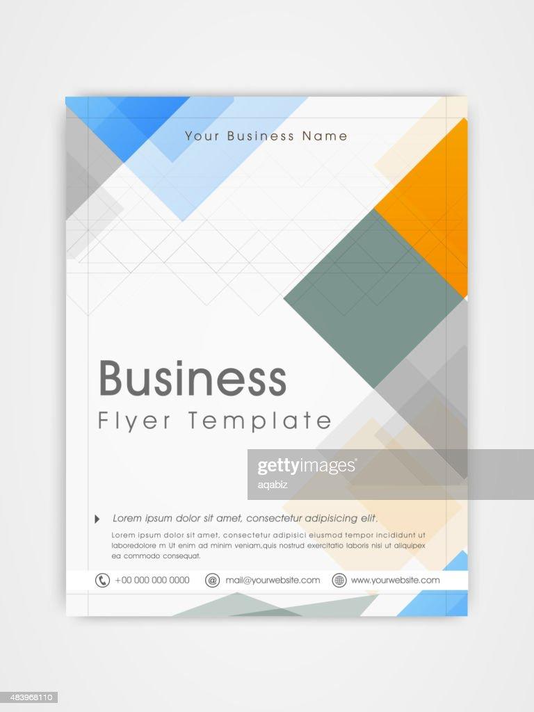 Flyer, template or brochure design for business.