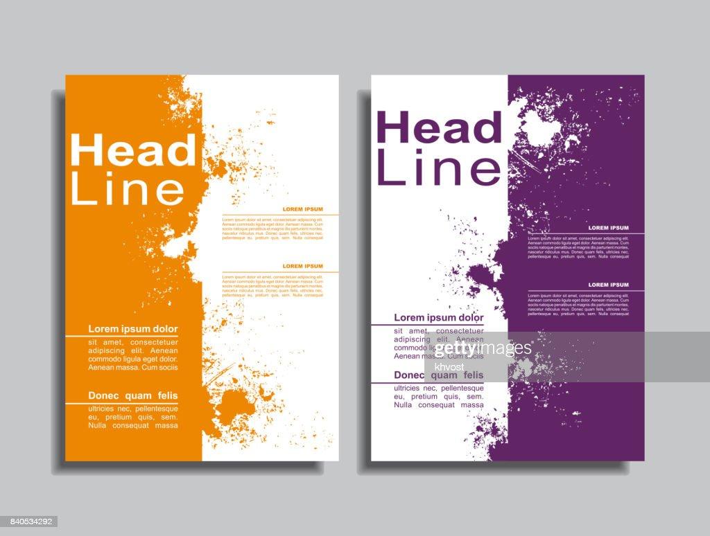 Flyers report brochure cover book design template. Vector illustration.