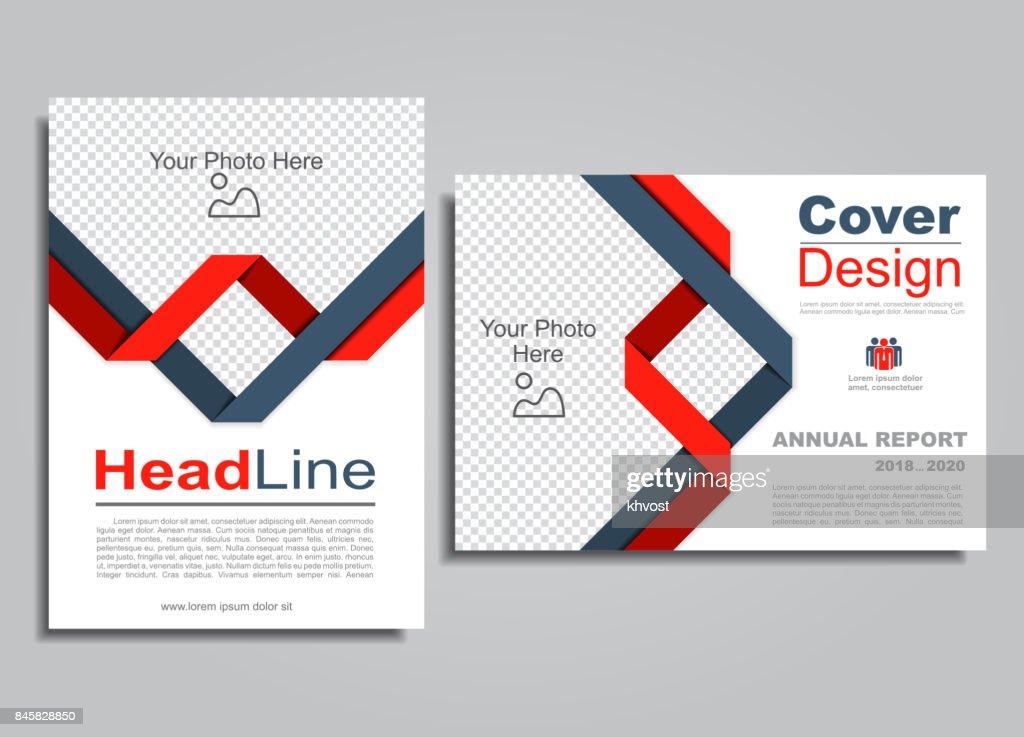 Flyers report brochure cover book portfolio design template. Vector.