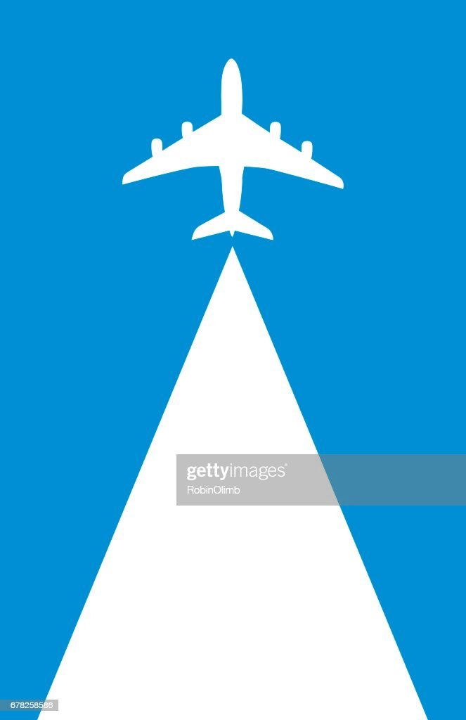 Flying Airplane Backgound : stock illustration