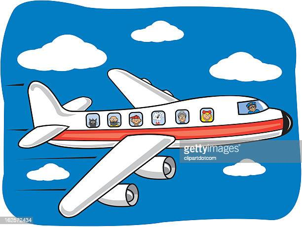 175 Cartoon Airplane Clipart High Res Illustrations Getty Images
