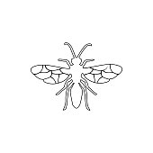 flying ant icon. Element of insect for mobile concept and web apps icon. Thin line icon for website design and development, app development