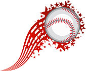 Flying Baseball Ball