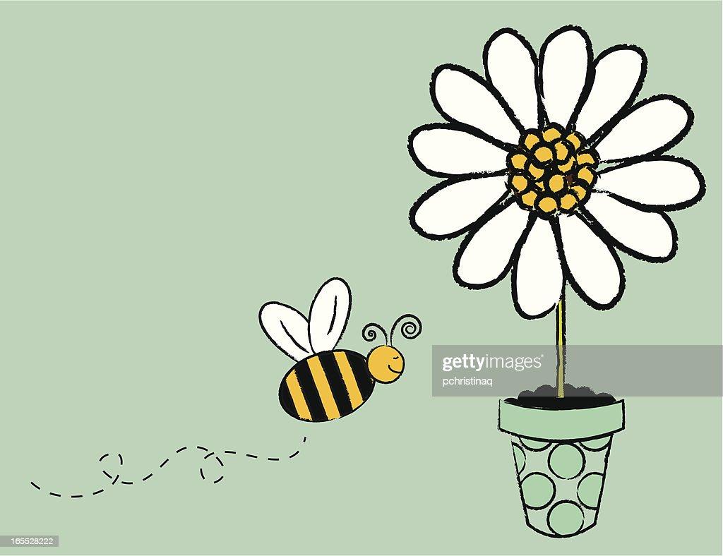 Flying Bee : stock illustration