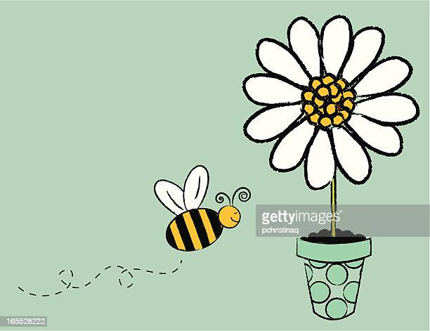 flying bee - bumblebee stock illustrations, clip art, cartoons, & icons