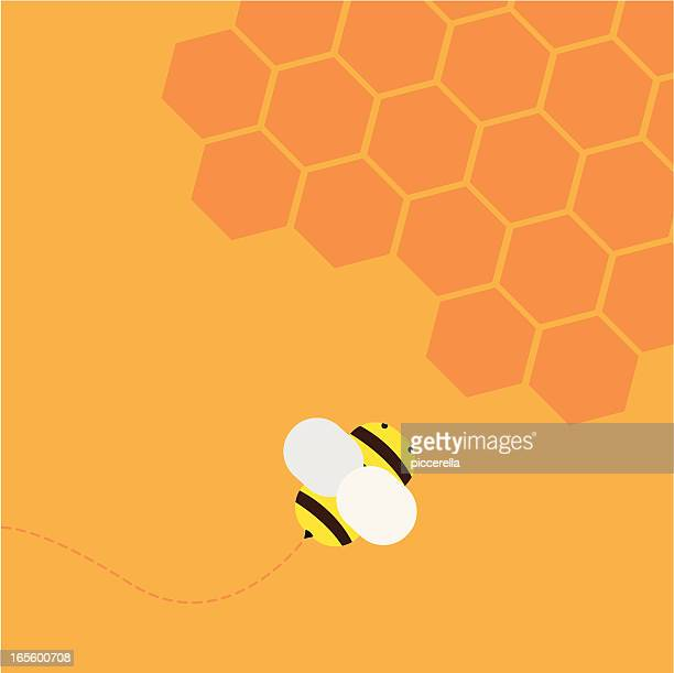 illustrations, cliparts, dessins animés et icônes de abeille volant - ruche
