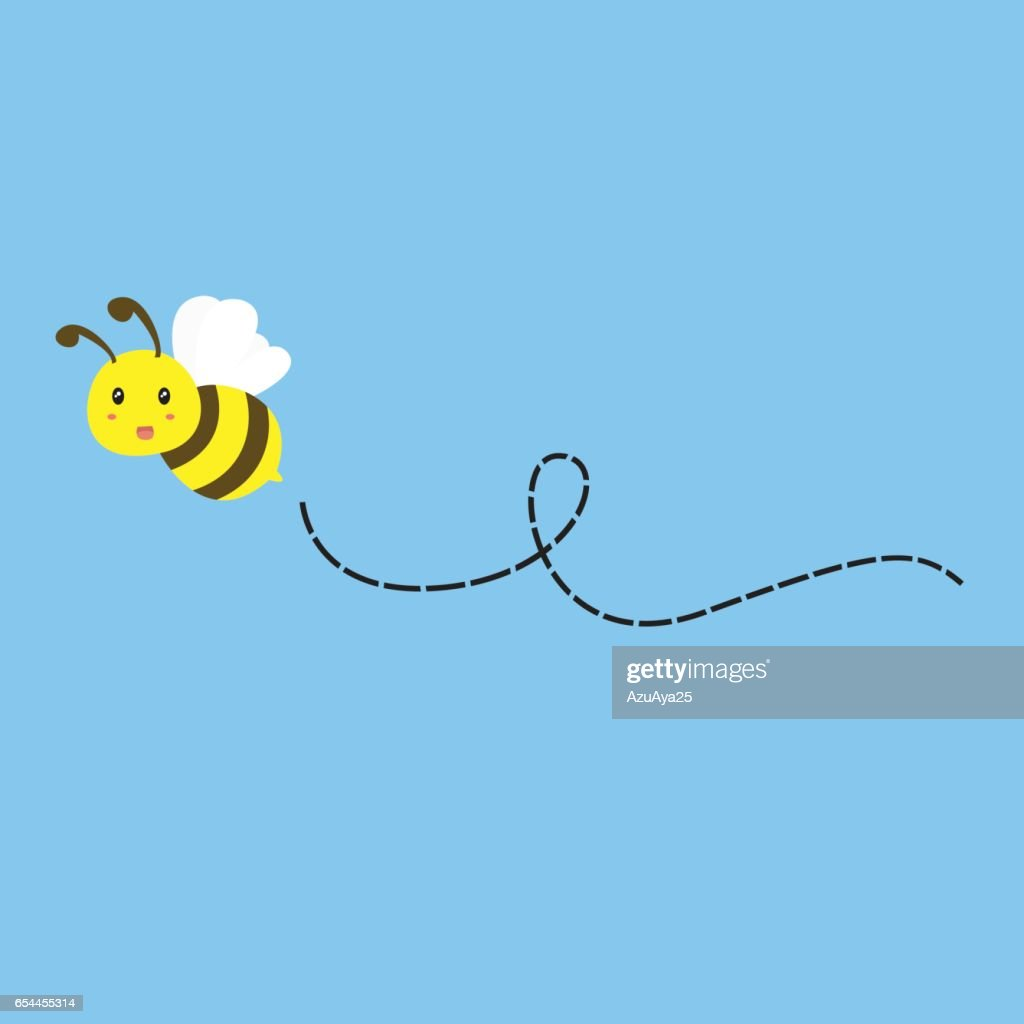 Flying Bee Vector
