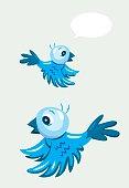 Flying bird cartoon