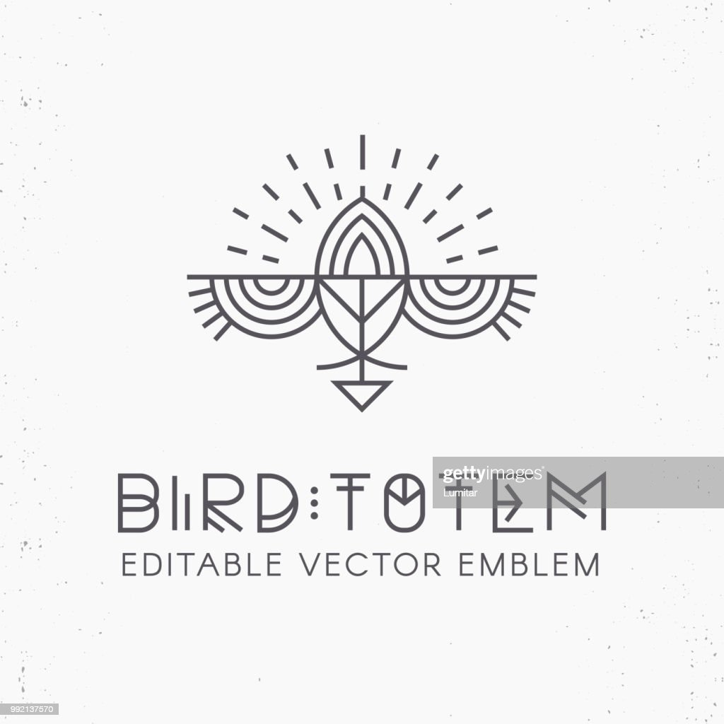 Flying Bird symbol design