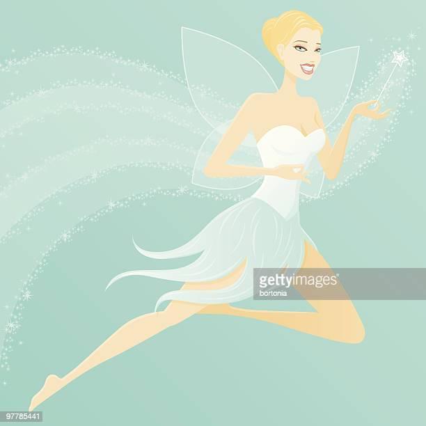 Flying Blonde Female Fairy