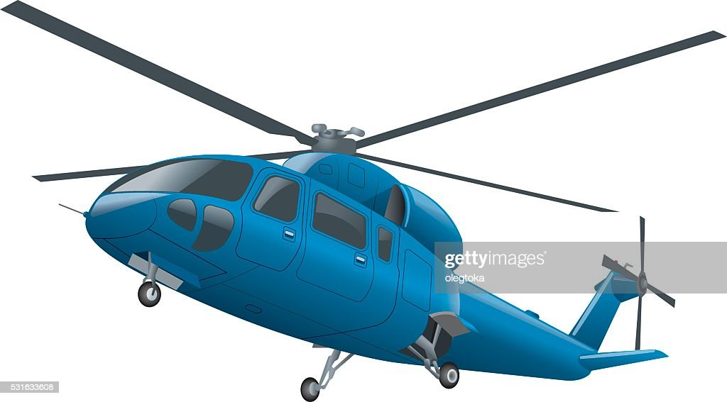 flying blue helicopter