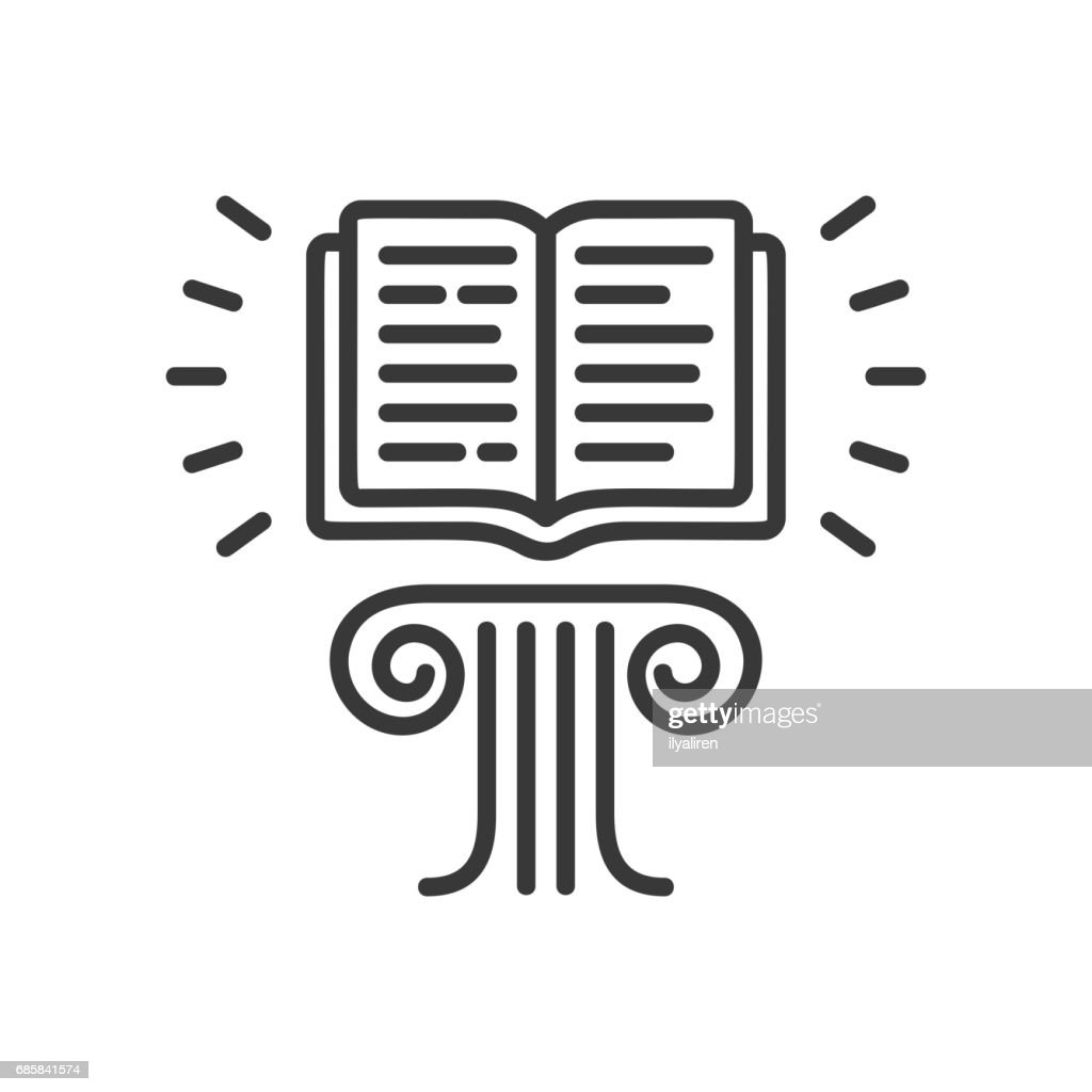 Flying Book - modern vector single line icon