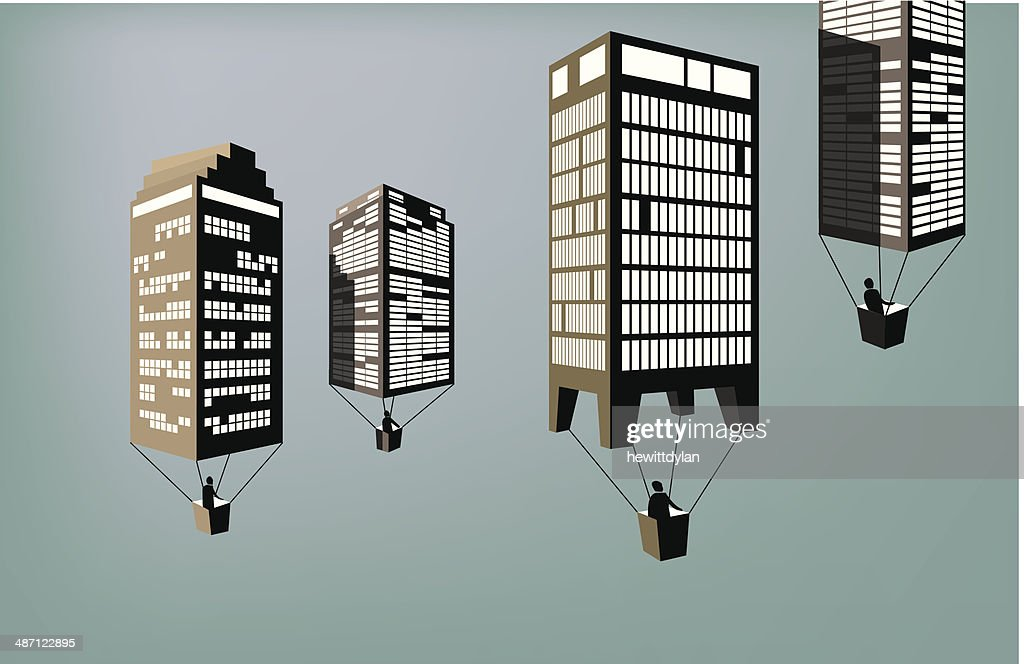 Flying buildings