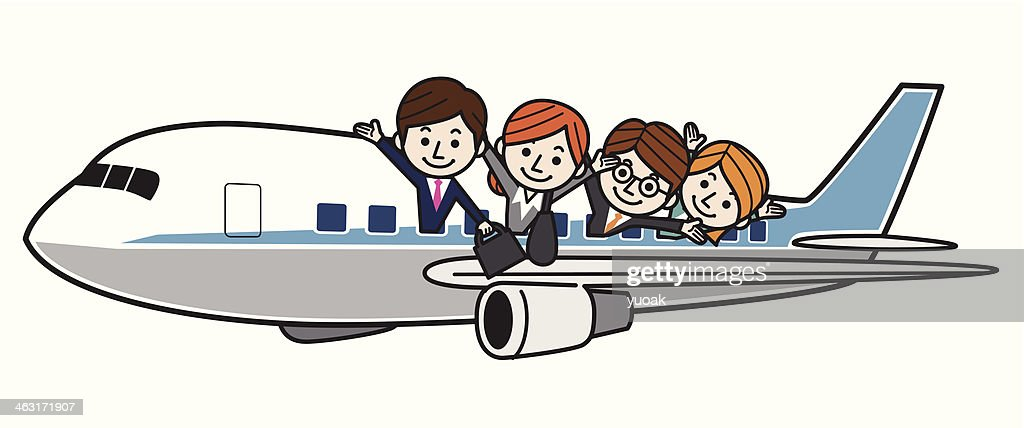 Flying Business people