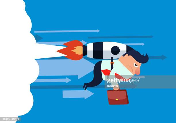 flying businessman - appearance stock illustrations