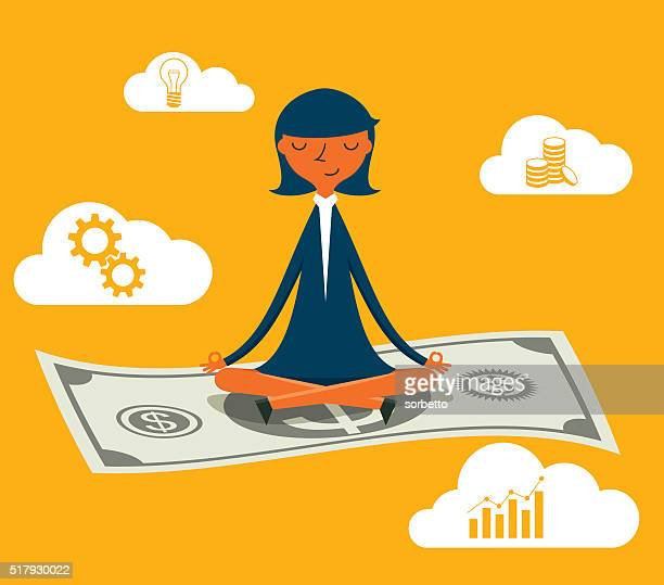 flying cash - money manager stock illustrations, clip art, cartoons, & icons